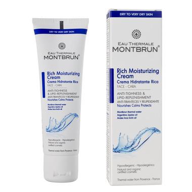 Montbrun, Bogaty krem nawilżająco- lipidowy z wodą termalną Montbrun, 50ml