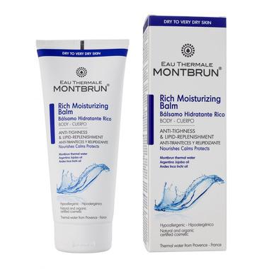 Montbrun, Bogaty nawilżająco- lipidowy balsam do ciała z wodą termalną Montbrun, 200ml