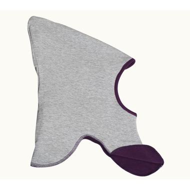 Dwustronna czapeczka krasnala Skimo fioletowo - szara