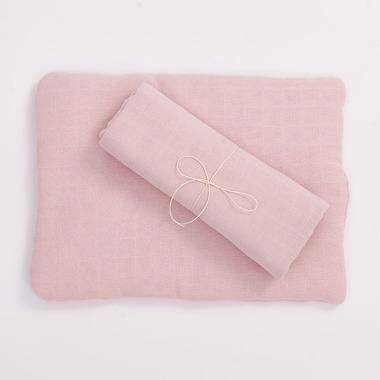 Bimbla, Poduszka z bawełny organicznej jasno różowa