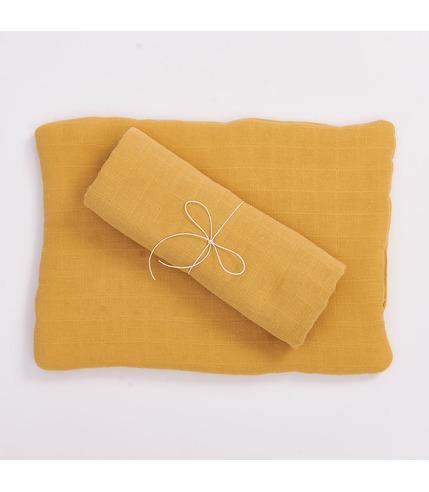 Bimbla, Poduszka z bawełny organicznej musztardowa