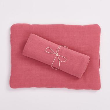 Bimbla, Poduszka z bawełny organicznej różowa