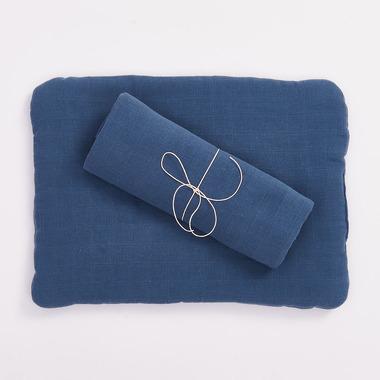 Bimbla, Poduszka z bawełny organicznej granatowa