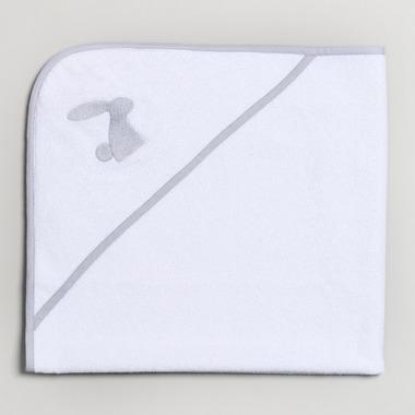 Bimbla, Ręcznik niemowlęcy z szarym haftem