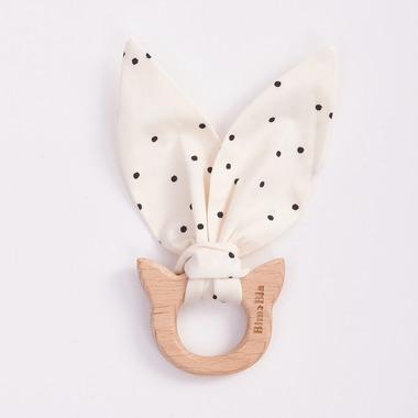Bimbla, Drewniany gryzak Little Friends Kropeczki kotek