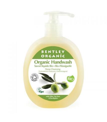 Bentley Organic, GŁĘBOKO OCZYSZCZAJĄCE Mydło w Płynie z Oliwką, Olejkiem Herbacianym i Eukaliptusem 250ml