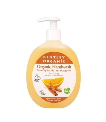 Bentley Organic, ODŻYWIAJĄCE Mydło w Płynie z Cynamonem, Słodką Pomarańczą i Goździkami 250ml