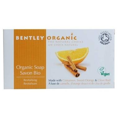 Bentley Organic, ODŻYWIAJĄCE Mydło z Cynamonem, Słodką Pomarańczą i Goździkami 150g