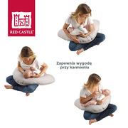 Red Castle, Ergonomiczna poduszka rogal dla kobiet w ciąży i karmiących Big Flopsy Fleur de coton Pearl grey