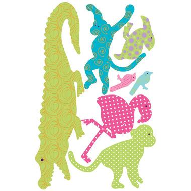 RoomMates, naklejki wielokrotnego użytku - Egzotyczne zwierzęta (kolorowe)