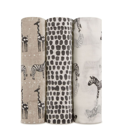 Aden & Anais, Otulacz bambusowy sahara motif 3szt