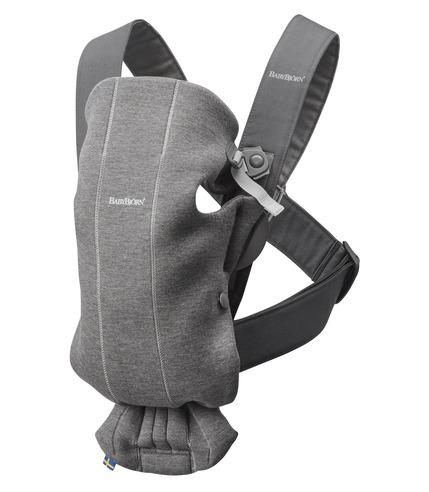 BabyBjorn, MINI 3D Jersey – nosidełko, Ciemny szary