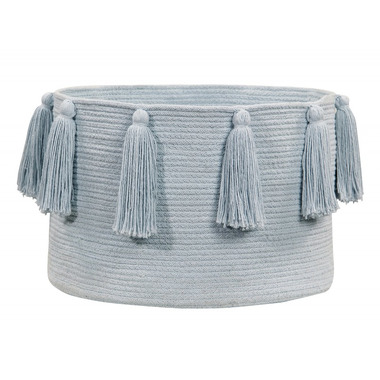 Lorena Canals, Basket Tassels Soft Blue