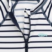 Lassig, Kombinezon do pływania z krótkim rękawem Striped boys UV 50+ 12 mc