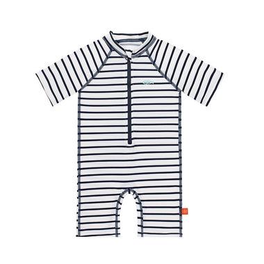 Lassig, Kombinezon do pływania z krótkim rękawem Striped boys UV 50+ 24 mc