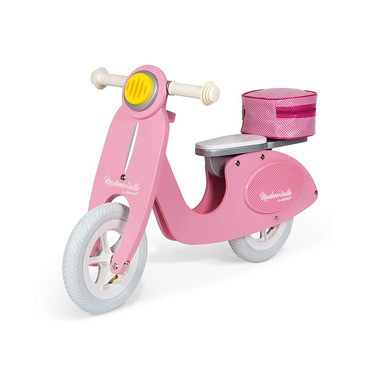 Janod, Rowerek biegowy różowy Scooter Mademoiselle