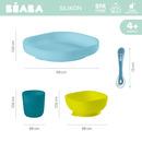 Beaba, Komplet naczyń z silikonu blue