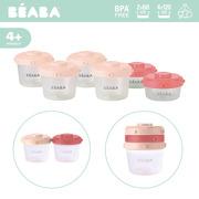 Beaba, Zestaw słoiczków Clip 6 szt. 60 ml i 120 ml pink