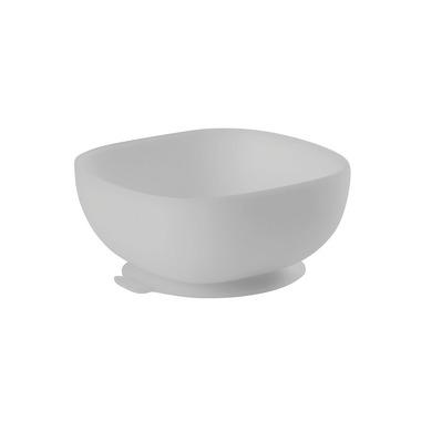 Beaba, Silikonowa miseczka z przyssawką grey