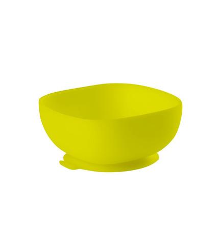 Beaba, Silikonowa miseczka z przyssawką yellow