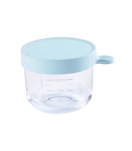 Beaba, Pojemnik słoiczek szklany z hermetycznym zamknięciem 150 ml light blue