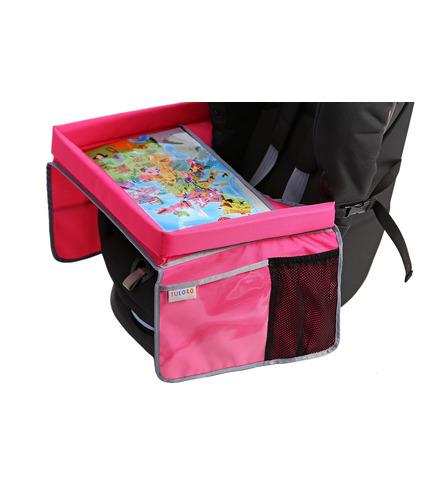 Tuloko, Bezpieczny Stolik Podróżnika z mapą Europy - różowy