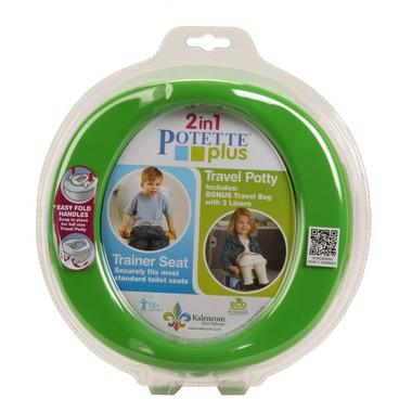 Potette Plus 2w1 nocnik turystyczny-nakładka na WC zielony