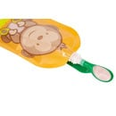 Fill'n Squeeze, Wielorazowe saszetki z podwójnym zipem 6 szt., wzór Wesoła Małpka
