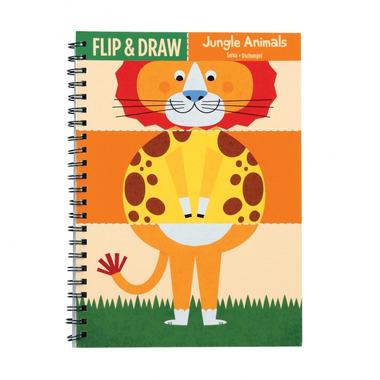 MUDPUPPY Zeszyt do nauki rysowania - Zwierzęta z dżungli