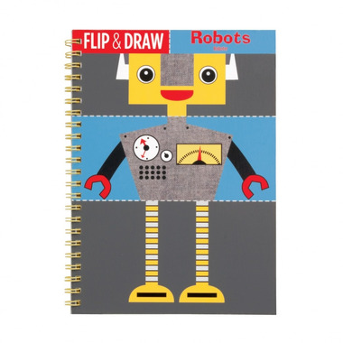 MUDPUPPY Zeszyt do nauki rysowania - Roboty