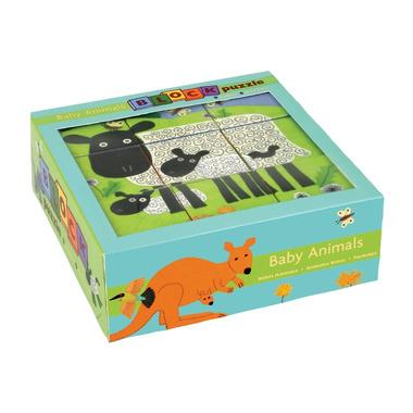 MUDPUPPY Puzzle 9 kostek - Zwierzęta i ich dzieci