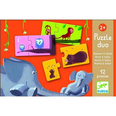 Djeco, puzzle DUO Mama i dziecko
