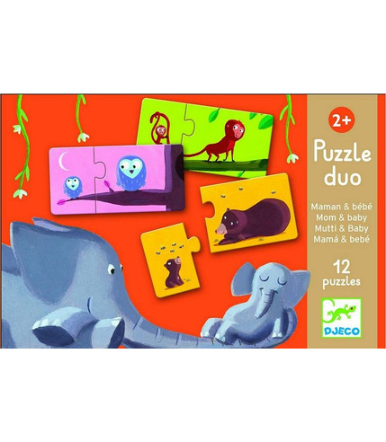 Puzzle DUO Mama i dziecko Djeco