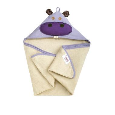 Duży ręcznik z kapturkiem Hipopotam 3 Sprouts