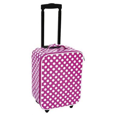 JaBaDaBaDo, walizka różowa w kropki
