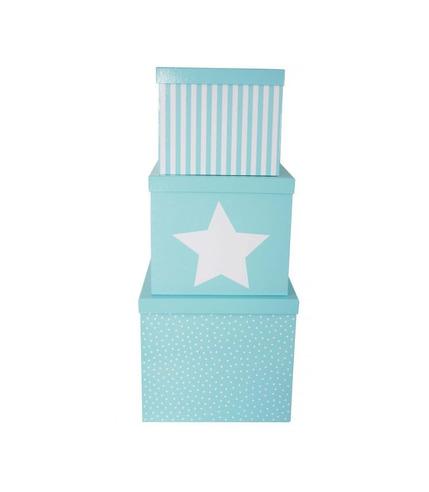 JaBaDaBaDo, pudełka niebieskie gwiazdka duże 3szt