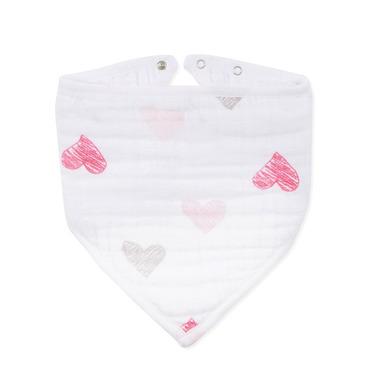 Aden & Anais, Śliniak muślinowy bandana lovebird sketch hearts