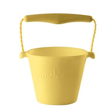 Zwijane wiaderko silikonowe żółte