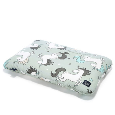 La Millou, BY MAJA BOHOSIEWICZ - BAMBOO BED PILLOW - 40x60cm - UNICORN RAINBOW KNIGHT