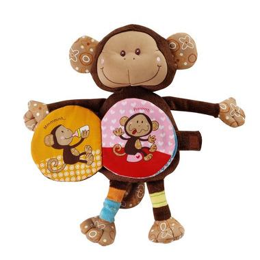 Lilliputiens, książeczka maskotka  małpka Basile