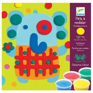 Djeco, kolorowa plastelinka do modelowania