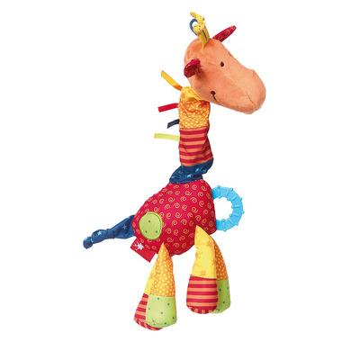 SIGIKID Przytulanka aktywizująca Żyrafa z gryzakiem, grzechotką, piszczałką, wibracją i szeleszczącą folią 6m+ PlayQ
