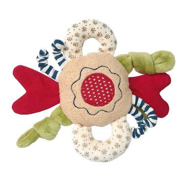 SIGIKID Przytulanka aktywizująca Kwiatek z wypustkami, grzechotką i szeleszczącą folią kolekcja ekologiczna Green