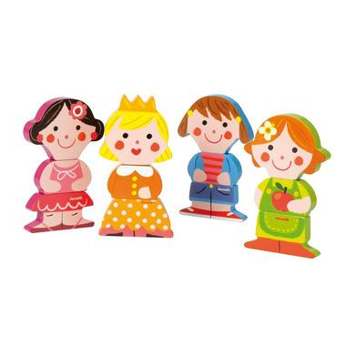 Janod, zabawne magnesy układanka lalki