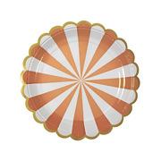 Meri Meri, małe talerzyki Paski pomarańczowe