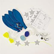 Meri Meri, zestaw balonów z ozdobami Niebieski