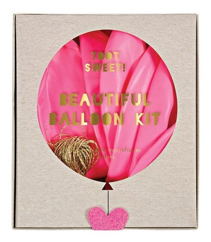 Meri Meri, zestaw balonów z ozdobami Różowy
