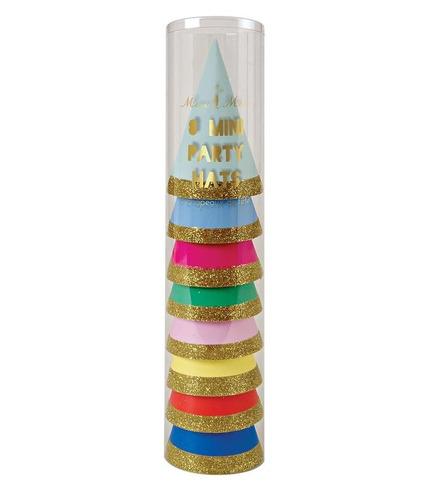 Meri Meri, mini czapeczki urodzinowe Happy Birthda