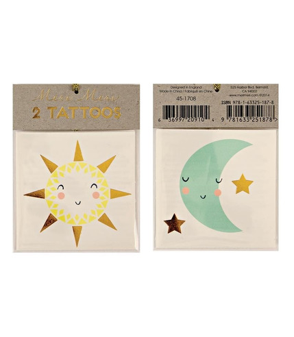 Meri Meri, tatuaże Słońce i księżyc
