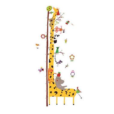Djeco, naklejka z miarka wzrostu żyrafa